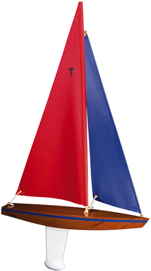 T15 toy sailboat, model sailboat, pond boat, pond yacht