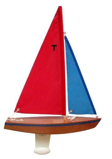 wooden toy sailboat, wood toys, pond sailer, model sailboat toy, pond boat, model sailboat kit